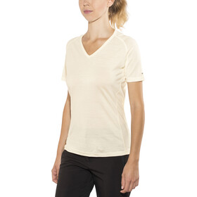 Devold Breeze V-hals T-shirt Dames, offwhite